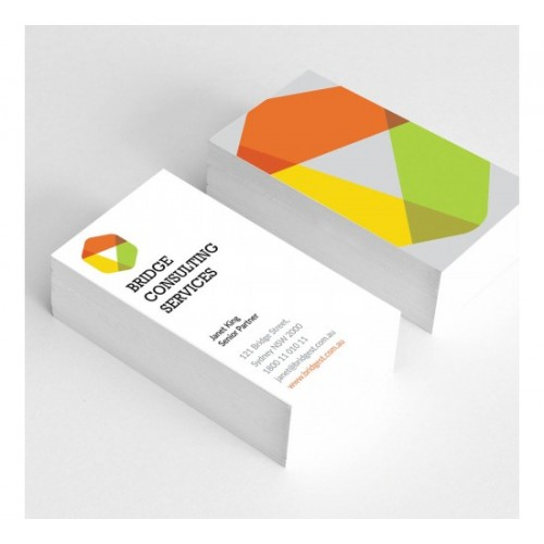 Business card printing business cards full colour 2 sides 350gsm satin artboard reheart Choice Image